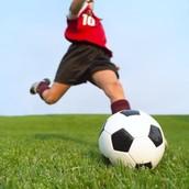 Someone Kicking a Soccerball