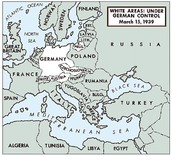 The map of Nazis control.