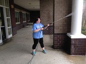 Messier pressure washing!
