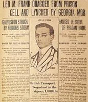 Newspaper about Leo Frank