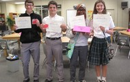 8th Grade Battle of the Books Champions