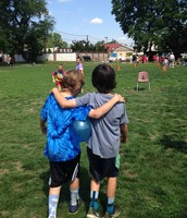 Loudon and Darren on Field Day