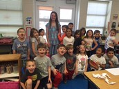 Goodbye to Miss. Oliver, our guest Teaching Assistant.  We will miss you!