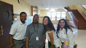 Elisha Harbin, 8th grade ELA (Far left in photo)