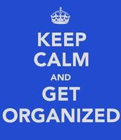 Organization is really helpful