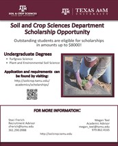 soil and crop sciences department scholarship opportunity
