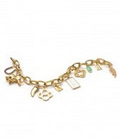 Signature Link Charm Bracelet Gold