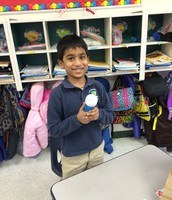 Revanth was exploring a flashlight!