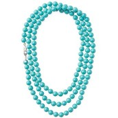 La Coco Rope Necklace - Turquoise $25