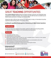 Teaching positions available