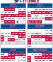 Texas Rangers Schedule 2014