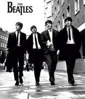 The Beatles taking a walk