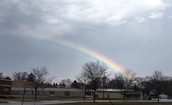 The rainbow after the storm on Tuesday