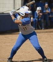 Female Hitting Softball
