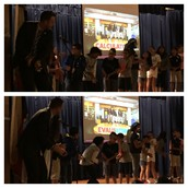 Clapping out syllables w/ GoNoodle at Pillow Think Fitness Thur Assembly!