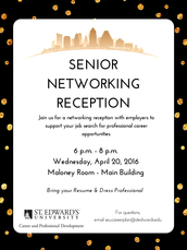 Senior Networking Reception - Wednesday, April 20th