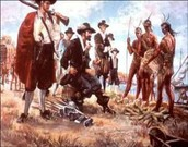 Bacon and his troops confronting Virginia natives