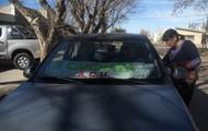 el auto del Luciano como apoyo logístico