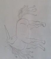 Schets van een mythologisch dier