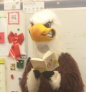The Eagle reading to our class.