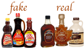 real vs. fake maple syrup