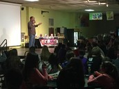 Author TY DRAGO Presents to PRJHS's 7th graders