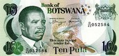 Currency in Botswana