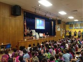 Ms. Garcia Shares A Story With Our Panthers During W.A.R.P. Wed. Assembly!