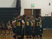 Lady Colts during a timeout