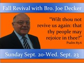 Fall Revival September 20-23