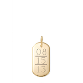 Signature Engravable ID Tag with Miles's Birthday ($36)
