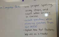 3rd grade Learning Targets in Mrs. Geib's room