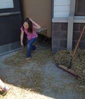 Coming out of the straw maze!!