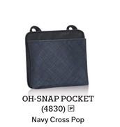 Oh Snap Pocket in Navy Cross Pop