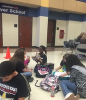 UIL students displaying the mustang way to utilize their time