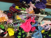 Fleece hats made and donated to CAC