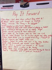 Pay It Forward Project/Ms. Henion's 5th Grade