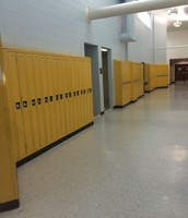 Yellow Lockers (6th grade hallway)