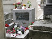 La tomba de Jim Morrison.