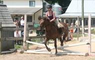 Carissa riding Cinammon