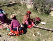Inca Ladies in the Andes Mountains of Peru