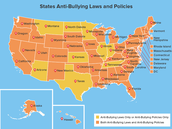 The state that has the most bullying is...