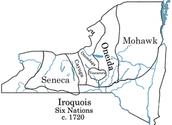 the territories of the native american tribes before the great law of peace
