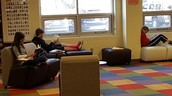 Comfy reading spots in the library
