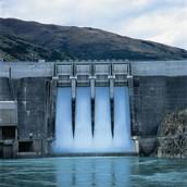 A hydropower plant working