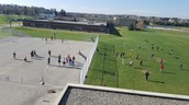 Roof top view of recess