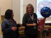 Lianna congratulating Stephanie!