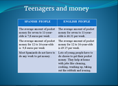 Teenagers and money