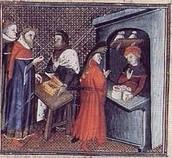 Merchants trading their goods