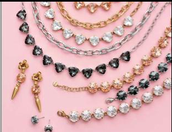 Smoky/Silver, Crystal/Gold, Peach/Gold